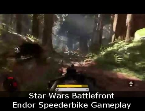 Star Wars Battlefront Endor Speederbike Gameplay