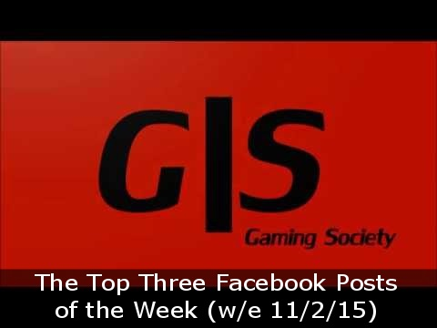 The Top Three Facebook Posts of the Week we 11 2 15