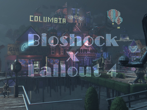 BioShock Infinite's Floating City recreated in Fallout 4