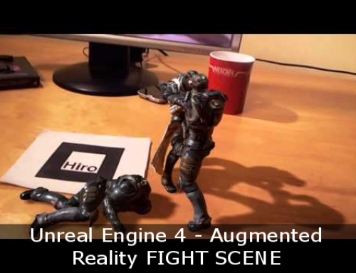 Awesome augmented reality fight on a desk