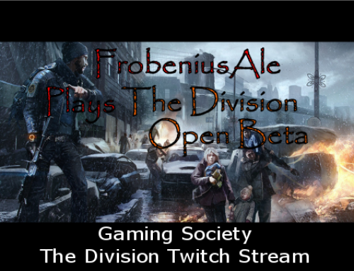 Gaming Society – The Division Twitch Stream