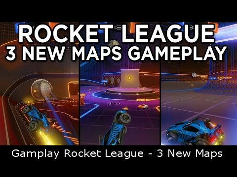 Gamplay Rocket League - 3 New Maps