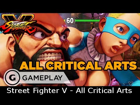 Street Fighter V - All Critical Arts