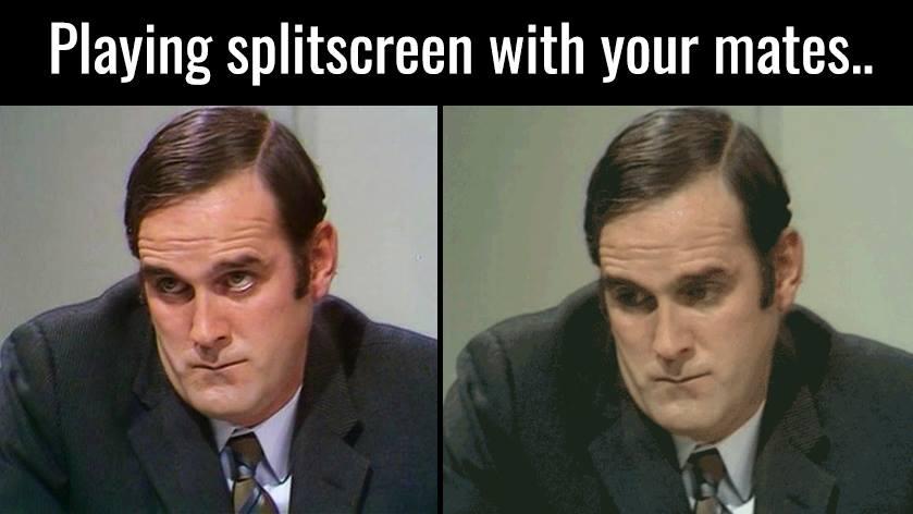 Split Screen Eyes